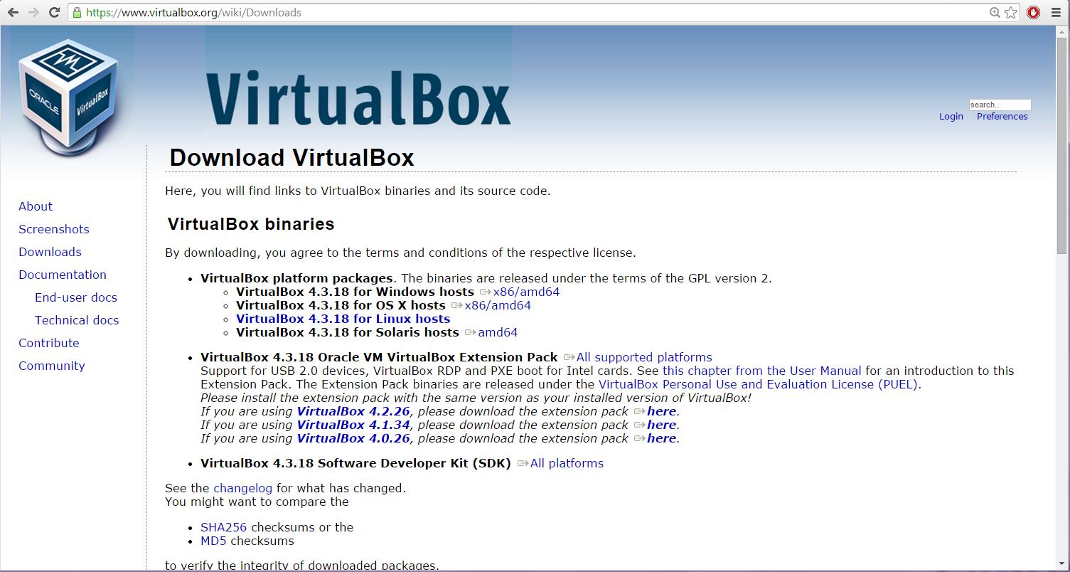 Virtualbox ubuntu 32 bit image